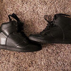 Nike heels swoosh